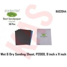 Sonbateh Wetordry Sheet, P2000A Grit, 9 ...