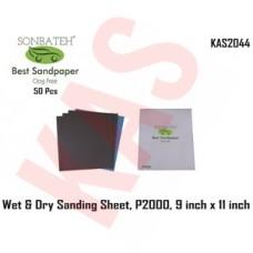 Sonbateh Wetordry Sheet, P2000A Grit, 9 in x 11 in, KAS-2044