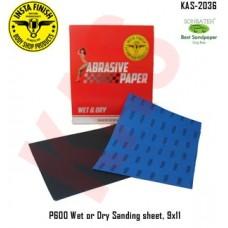 Sonbateh Wetordry Sheet, P600A Grit, 9 in x 11 in, KAS-2036