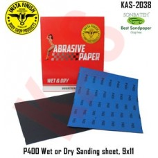 Sonbateh Wetordry Sheet, P400A Grit, 9 in x 11 in, KAS-2038