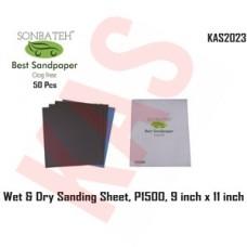 Sonbateh Wetordry Sheet, P1500A Grit, 9 in x 11 in, KAS-2023