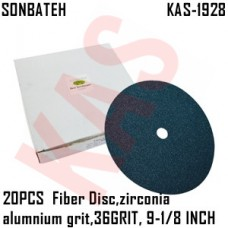 Sonbateh Green Fibre Disc, 36 grade, 9 1...