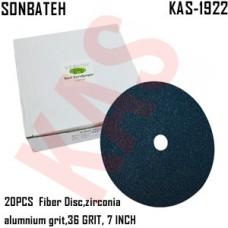 Sonbateh Green Fibre Disc, 36 grade, 7 i...