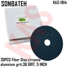 Sonbateh Green Fibre Disc, 36 grade, 5 i...