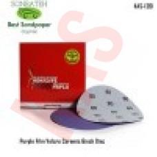 Sonbateh Ceramic Purple Film Velcro Back Production Disc, 6 inches, 80 Grit, 50pes, KAS-1261