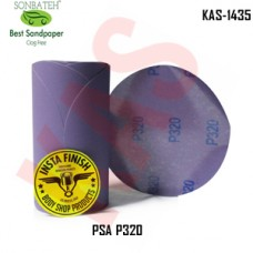 Sonbateh Ceramic Purple Film Glue Back Production Disc, 6 inches, 320 Grit, 100Pes, KAS-1435