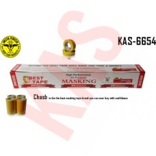 Chasb Yellow Automotive Refinish Masking Tape, 1-1/2