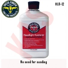 Insta Finish Headlight Restorer, yellowed or hazy headlight lenses polish, HLR-12