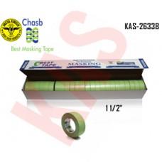 "Chasb Performance Green Masking Tape, 1-1/2"", 36mmx55M, 24 Rolls, KAS-26338"
