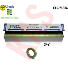 "Chasb Performance Green Masking Tape, 3/4"", 18mmx55M, 48 Rolls, KAS-26334"