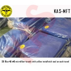 Micro Fiber cloth, 40x40, Blue with logo...
