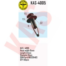 Insta Finish Clip for Ford, Head width:1...