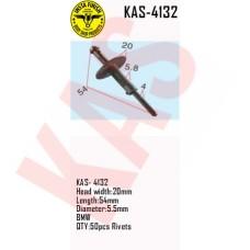 Insta Finish Rivets for BMW, Head width:20mm Length:54mm Diameter:5.5mm BMW QTY:50pcs Rivets, KAS-4132