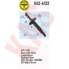 Insta Finish Rivets for Chrysler, Head width:16mm Length:55mm Diameter:5mm OEM: Chrysler 14063981 QTY:50pcs Rivets, KAS-4133