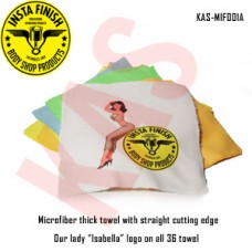 Microfiber thick towel with straight cut...