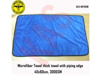 Microfiber thick towel with piping edge, 40x6...