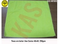 Microfiber towel 40x40cm, 250gsm, Color Green...
