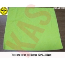 Microfiber towel 40x40cm, 250gsm, Color Green, KAS-MIF001C