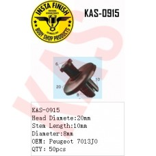 Insta Finish Black Clip for Peugeot, Hea...