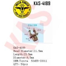Insta Finish Gray Clip for Toyota, Head Diameter:11.5mm Length:23.5mm Diameter:9.5mm OEM:Toyota 53455-33011 QTY:50pcs, KAS-4189