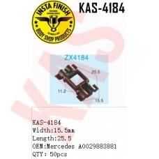 Insta Finish Blck Clip for Mercedes, Width:15.5mm Length:25.5 OEM:Mercedes A0029883881 QTY:50pcs, KAS-4184