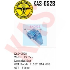 Insta Finish Clip for Honda, Width:19.2mm Length:35mm  OEM:Honda 91527-SM4-003 QTY:50pcs, KAS-0528
