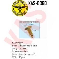 Insta Finish Clip for Universal, Head Diamete:18.5mm  Length:28mm Diameter:8mm Used For:Universal QTY:50pcs, KAS-0360