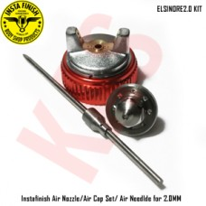 Instafinish Genuine Air Nozzle/Air Cap Set/ Air Needle for 2.0MM, ELSINORE2.0 KIT