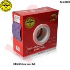 Sonbateh Dust free Ceramic Purple Back Film Velcro Sheet Roll, 80 Grit, 13.12 yd, Purple, KAS-30713