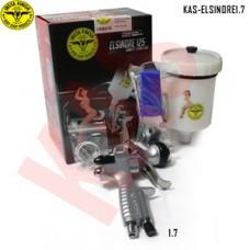 Instafinish full-size HVLP spray gun, 1.7 Nozzle, Considered Primer Gun, 600cc Cup & Lid Included, KAS-ELSINORE1.7
