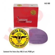 Sonbateh Purple Film Velcro Back Production Disc, 6 inches, 1200 Grit, 50pes, KAS-1188