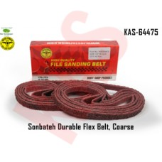 Sonbateh Durable Nylon Flex Belt, 1/2 in x 18 in, Set of 10, Coarse, Brownin color, KAS-64475