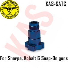 Instafinish Adapter 4 Sharpe, Kobalt & Snap-On spray guns, Color Blue, Male Thread, KAS-SATC