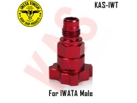Instafinish Adaptor for IWATA guns, Male Thre...