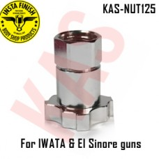 Instafinish Adaptor for Elsinore125 & IWATA guns, Female Thread, Color Chrome, KAS-NUT125