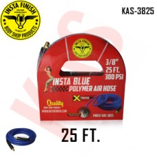 "Instafinish Blue 3/8"" x 25FT Hybrid Polymer Air Hose, KAS-3825"