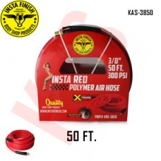 "Instafinish Red 3/8"" x 50FT Hybrid Polymer Air Hose, KAS-3850"