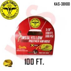 "Instafinish Yellow 3/8"" x 100FT Hybrid Polymer Air Hose, KAS-38100"