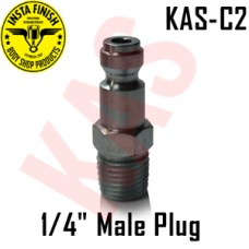 "Instafinish C2 1/4"" NPT Male Quick Type C Plug, KAS-C2"
