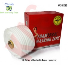 Chasb Soft Edge Foam Masking Tape, 50Meters, Color White, KAS-6293