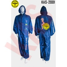 Instafinish Polyester Painter Suit with hood & Back Pocket, Color Blue, Size Large, KAS-2001