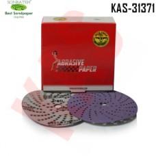 Sonbateh Ceramic Purple Film Dust Free Velcro Back Production Disc, 6 inches, 80 Grit, 50pes, KAS-31371