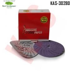 Sonbateh Ceramic Purple Film Dust Free Velcro Back Production Disc, 6 inches, 150 Grit, 50pes, KAS-30280