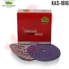 Sonbateh Ceramic Purple Film Dust Free Velcro Back Production Disc, 6 inches, 180 Grit, 50pes, KAS-1816