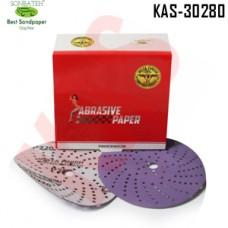 Sonbateh Ceramic Purple Film Dust Free Velcro Back Production Disc, 6 inches, 220 Grit, 50pes, KAS-30708