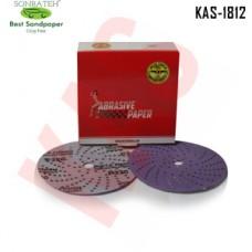 Sonbateh Ceramic Purple Film Dust Free Velcro Back Production Disc, 6 inches, 320 Grit, 50pes, KAS-1812
