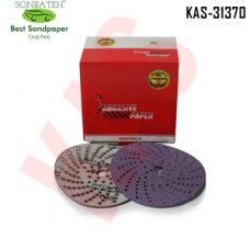 Sonbateh Ceramic Purple Film Dust Free Velcro Back Production Disc, 6 inches, 400 Grit, 50pes, KAS-1811