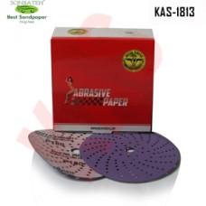Sonbateh Ceramic Purple Film Dust Free Velcro Back Production Disc, 6 inches, 600 Grit, 50pes, KAS-1813