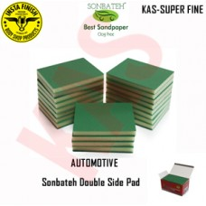 Sonbateh Softback Sanding Sponge/ Super Fine, grits 600-800 & 1000, Color Green, KAS-SUPERFINE