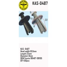 Insta Finish Clip for Toyota, KAS- 0487 ...
